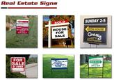 Yard & Real Estate Signs