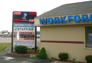A New LED Message Board for Workforce